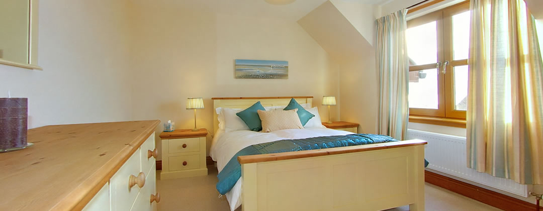 "The second bedroom also has a king size bed, 32"" flat screen TV with Freeview and an ensuite shower room"