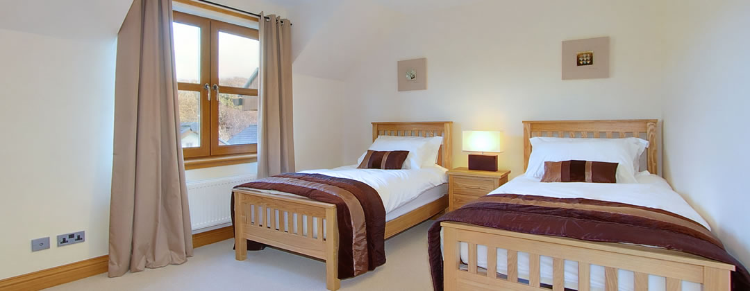and there are two twin bedded rooms, all decorated to the highest standard.
