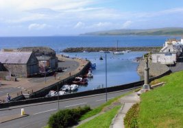 View over Port William Harbour